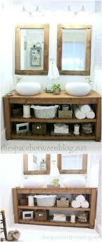 Diy bathroom furniture Diy Rustic Diy Wood Vanity Diy Crafts 20 Gorgeous Diy Bathroom Vanities To Beautify Your Beauty Routine