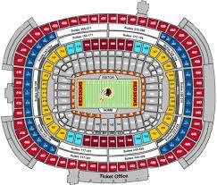 Factual Fedexfield Seat View Fedex Stadium Map Washington