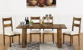 marlow 6 seater dining table vertical strips in india marlow 6 seater dining