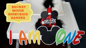 how to make a mickey mouse high chair banner with free printable at home