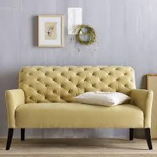 The Elton Settee Tufted Yellow Sofa