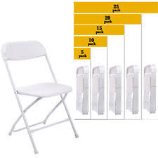 stackable plastic chairs. Interesting Chairs 5 To 25 PACK Commercial Wedding Quality Stackable Plastic Folding Chairs  White Intended G