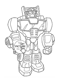 heatwave bot coloring pages for kids printable free rescue bots
