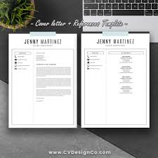 Modern Creative Resume Cv Template Cover Letter Instant Download