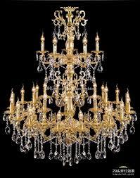 Großhandel Projekt Antique 29 Kopf Gold Führte Kronleuchter Kristalldroplight Wohnzimmer Foyer Hotel Große Vintage Kerze Kronleuchter Beleuchtung