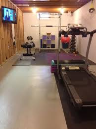 basement gym ideas. Fine Gym I Canu0027t Tell If This Is An Unfinished Room Or A Garage Either Way Cool Gym In Basement Gym Ideas E
