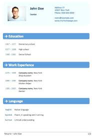 Resume Formats For Word – Micxikine.me
