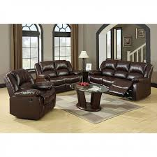 winslow 2pcs rustic brown bonded leather recliner