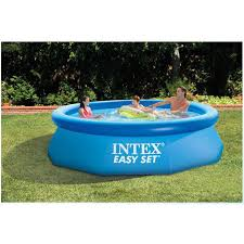 240cm 76cm INTEX blue AGP above ground swimming pool family pool