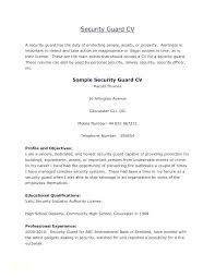 Security Officer Resume Template Security Resume Sample Sample Of