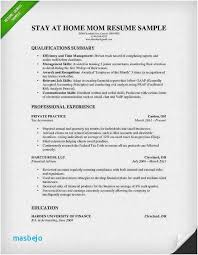 Functional Resume Interesting Functional Resume Stay At Home Mom Examples Unique Functional Resume