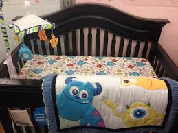 image of monster crib bedding design