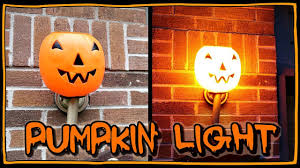 Outdoor Plastic Light Up Pumpkins How To Make A Pumpkin Porch Light