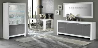 Complete Woonkamer Massief Hout 650322 Hoogglans Wit Taupe