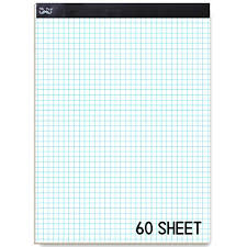 Mr Pen Engineering Paper Graph Paper 5x5 5 Squares Per Inch 8 5x11 60 Sheet Papers Grid Paper Computation Pads Drafting Paper Squared