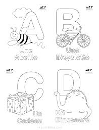 Free Printable Abc French Alphabet Coloring Pages Alphabet Color