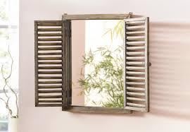 Dekoleidenschaft Spiegel Fenster Im Antik Design Mit Holz Klapp