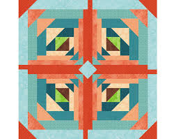 Logging On, Paper Pieced Quilt Block Pattern, log cabin quilt ... & Logging On, Paper Pieced Quilt Block Pattern, log cabin quilt block,  instant download, star quilt pattern, geometric quilt, easy quilt Adamdwight.com