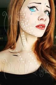 more subtle pop art makeup