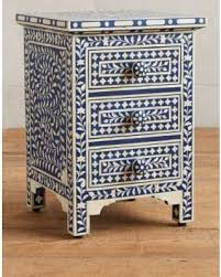 bone inlay nightstand. Contemporary Bone Bone Inlay Nightstand On N
