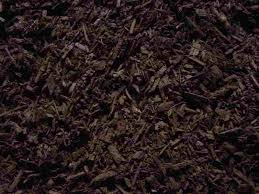 chocolate dyed brown mulch