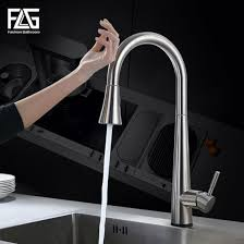 China <b>Flg</b> New Design Stainless Steel Kitchen Faucets with <b>Pull out</b> ...