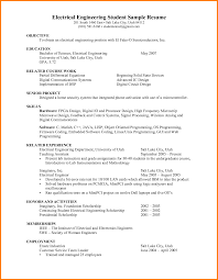 8 Electrical Engineering Student Resume Dragon Fire Defense