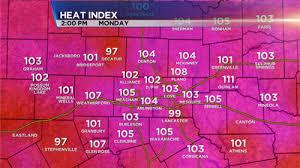 Heat Index: Fort Worth Heat Index
