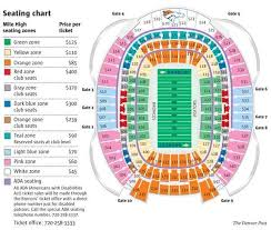 Denver Invesco Field Seating Chart Seating Invesco Field At Mile High The Denver Post