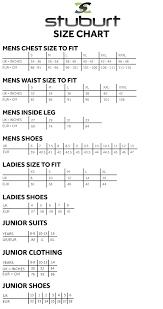 Stuburt Size Chart Discount Sports Clothing Equipment