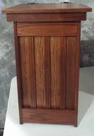 elegant trash can.  Elegant Unique Kitchen Trash Can Elegant This And Useful Amish Furniture  Oak Or Cherry Mission To