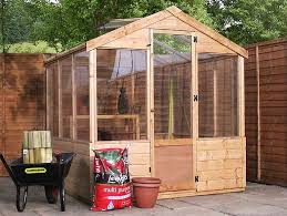 8 x 6 waltons evesham wooden greenhouse from thompson morgan