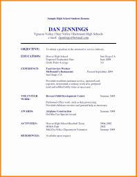 015 Resume Template High School Student Ideas Cv For Secondary Job