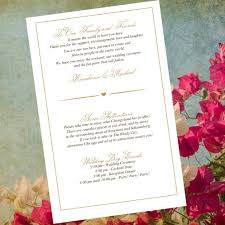 20 Wedding Itinerary Welcome Letters Reception Menus