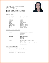 Tagalog Resume Format Resume For Your Job Application