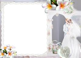 Wedding Couples Border Marry Flowers Backgrounds For