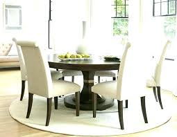 rug under ning table size white round 6 chair what for and chairs dining 60 inch