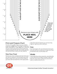 Mens Shoe Measurement Chart Mens Shoe Sizing Chart Free Download