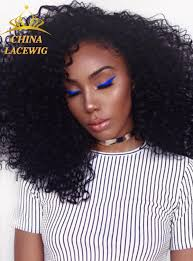 Kinky curly lace front wigs with baby hair natural hairline human