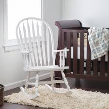 wooden rocking chair for nursery. image of: white nursery rocking chair wooden for s
