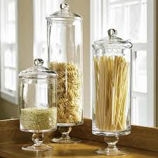 Apothecary Jars Decorating Ideas Cylindrical Apothecary Jars for Dry Pasta [Rotini Penne Farfalle 99