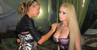 the woman who tries to look exactly like a barbie doll posted pics without makeup 22 words