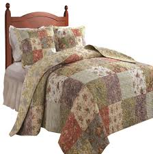 Greenland Home Blooming Prairie Bedspread Set, 3-Piece Full ... & Greenland Home Blooming Prairie Bedspread Set, 3-Piece Queen traditional- quilts-and Adamdwight.com