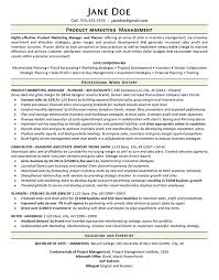 marketing manager resume product marketing manager resume example merchandise planner