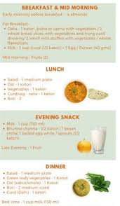 Prepare A Diet Chart On Over Nourishment At Age Of 11