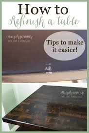 Refinish Kitchen Table Top How To Refinish A Table Stacy Risenmay
