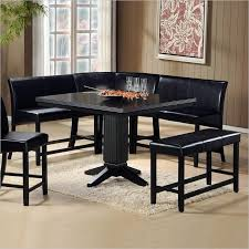 corner dining furniture. impressive papario black 6 piece corner dining set furniture k