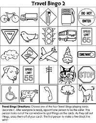 Small Picture Travel Bingo 2 coloring page Dry Erase Quiet Binder Pinterest