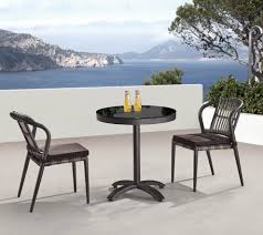 Small Outdoor Table Set Kitaibela Armless Dining Set For Two With Small Bistro Table