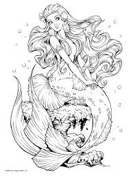 Printable Realistic Mermaid Coloring Pages Mermaid Coloring Pages
